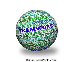 Teamwork 3d sphere