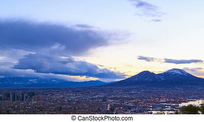 Mount Vesuvius Dawn over Naples Time Lapse