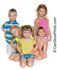 Five children on the floor