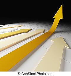 financial arrows - fine 3d image of financial graph arrows...