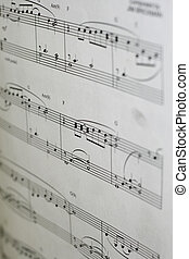 Piano Music Notes - piano music book with music notes ready...
