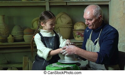 Grandfathers Workshop - Grandfather giving the basics of...
