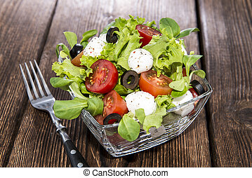 Portion of fresh Tomato-Mozzarella Salad - Portion of fresh...