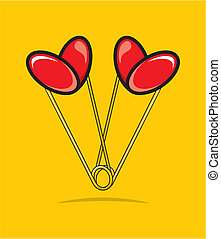 Heart shape paper clips