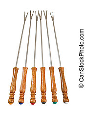 Fondue forks - Characteristic forks used for fondue or...