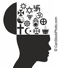 Religious symbols - Illustration - Religious symbols - Stock...