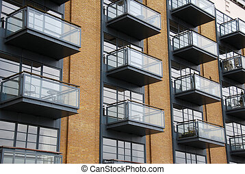 Balconies - balconies on luxury apartments in london,...