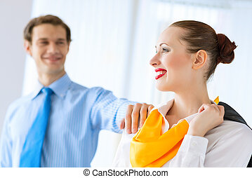 successful business woman - young successful business woman...