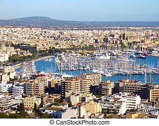 Palma, mallorca - a view over palma in mallorca