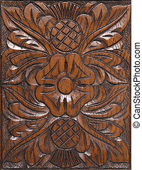decorative wood carving abstract background