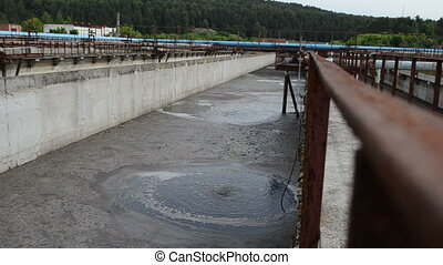 aeration cleaning stage - Aeration process of waste sewage...