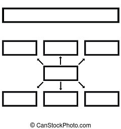 Multilevel - New business structure on a white background...