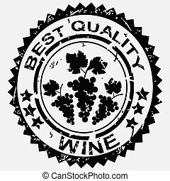 Best quality rubber stamp with bunch of grapes