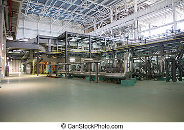 electric power station, inside