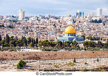 Mousque of Al-aqsa (Dome of the Rock) in Old Town -...
