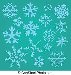 Snow flakes - A set of different snow flakes