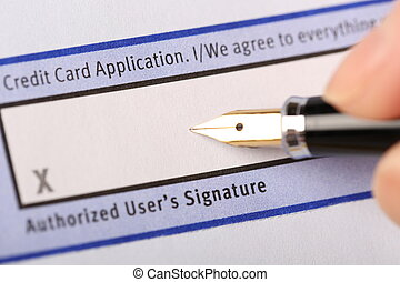 Authorized users signature - Business man prepare to...