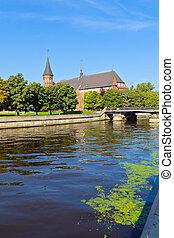 Cathedral of Koenigsberg on the Kneiphof island. Kaliningrad...