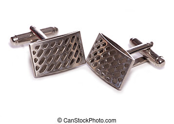 silver cuff links studio cutout