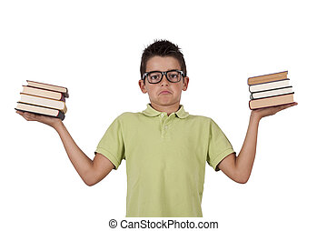boy with books in their hands