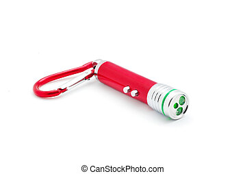 laser pointer flashlight - flashlight an laser pointer on...
