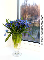 flowers on a window-sill