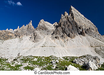 Sexten Dolomites in South Tyrol, Italy