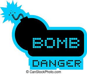 Bomb danger - Creative design of bomb danger