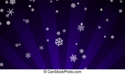 Ornamental Snow on Purple Radial - Decorative ornamental...