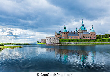 Historical building. Kalmar castle in Sweden Scandinavia...