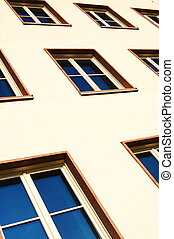 facade of apartment house - cladding of an apartment house...