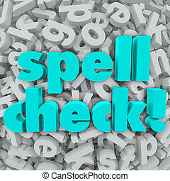 Spell Check Letter Background Correct Spelling Words - Spell...