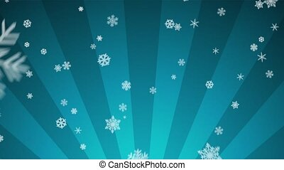Ornamental Snow on Lt Blue Radial - Decorative ornamental...