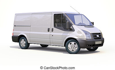 Commercial van - Modern commercial van on a light background