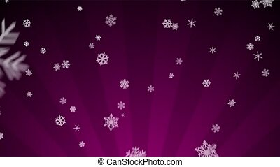 Ornamental Snow on Magenta Radial - Decorative ornamental...