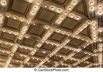 Old Theater Marquee Ceiling Lights - Old Historic Broadway...