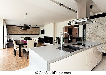 Urban apartment - elegant interior - Urban apartment -...