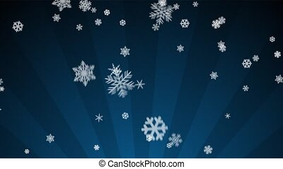 Ornamental Snow on Blue Radial - Decorative ornamental...