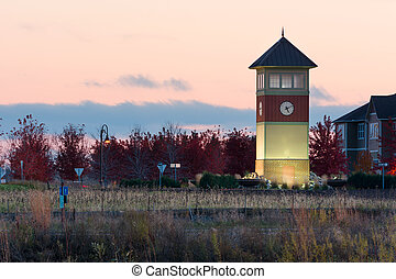 Clock Tower - Cobblestone Lake Clock Tower in Apple Valley...