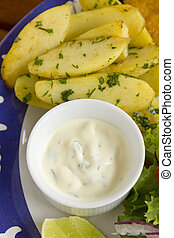 Tartare Sauce And Chips - Delicious tartare sauce with...