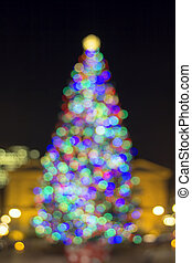 Christmas Holiday Tree Blur Defocused Lights - Christmas...