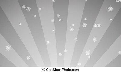 Ornamental Snow on White Radial - Decorative ornamental...