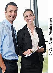 empresa / negocio, gente, grupo, reunión, oficina