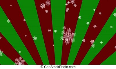Ornamental Snow on Red-Green Radial - Decorative ornamental...