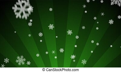 Ornamental Snow on Green Radial - Decorative ornamental...