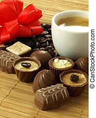 Chocolates for dessert - Delicious chocolates with coffee...