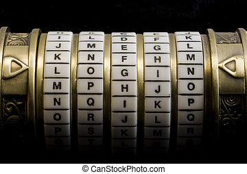 login as a password to combination puzzle box (cryptex) -...