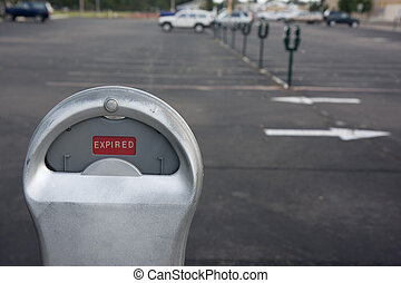 expired parking meter - parking meter showing expired time...