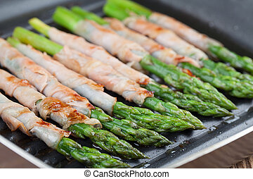Grilled prosciutto wrapped asparagus - Prosciutto wrapped...