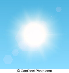 Sun in the sky - Realistic vector sun in the sky. EPS10...